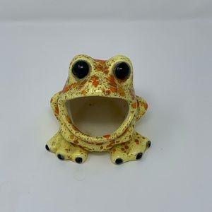 Other - Vintage 70's WIDE Mouth Ceramic Frog Holder